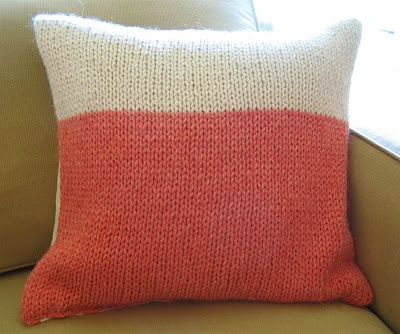 How To: Make a Knitted Cushion Cover