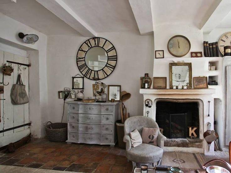 Englisch Huser Franzsisch Auf Dem Land Vintage Wohnzimmer Bauernhaus Interieurs
