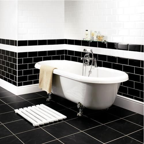 Wickes Metro White Ceramic Tile 200 X 100mm. White Bathroom TilesBlack ... Part 67