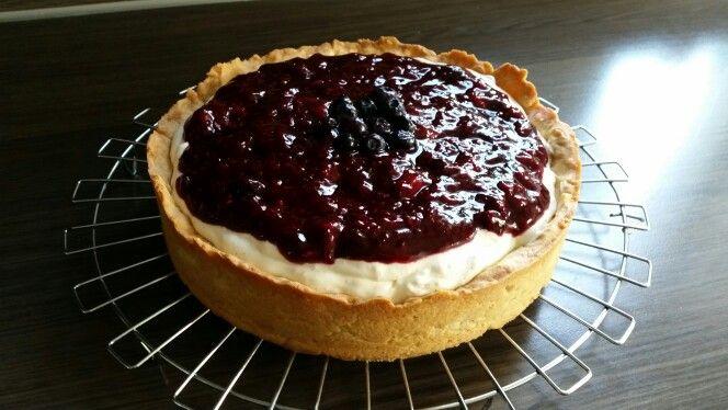 Griekse yoghurt - monchou taart met zomers fruit