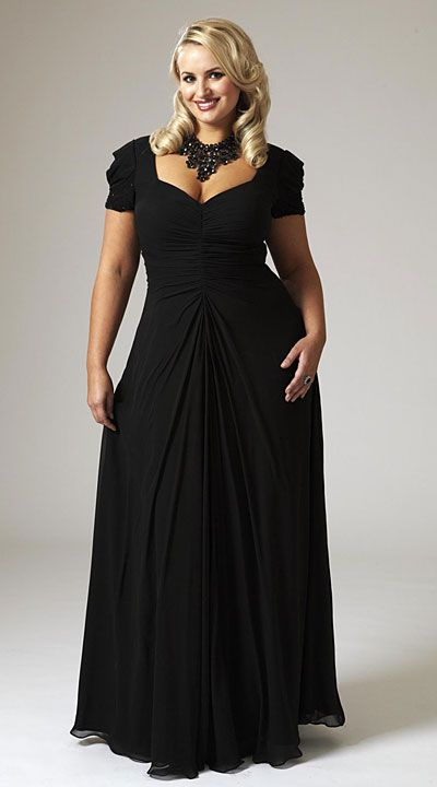 Simple, but Sexy Black Evening Gown