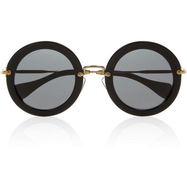 Miu Miu Round-frame acetate sunglasses found on Polyvore