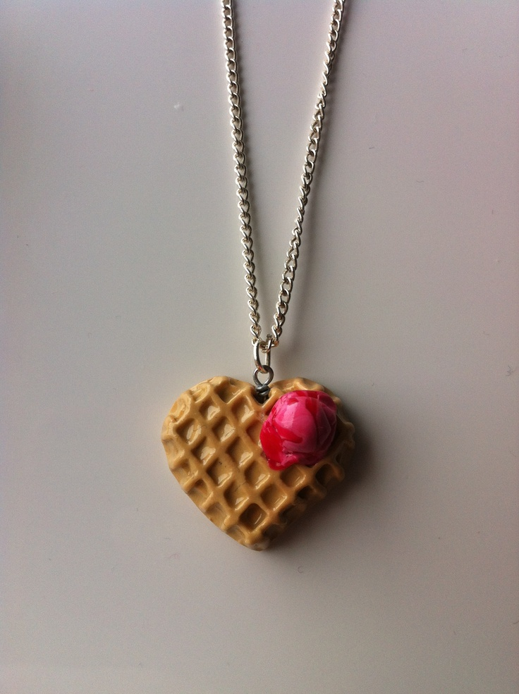 Waffle And Ice Cream Necklace