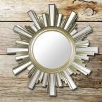 Sunburst Gold Wall Mirror Set