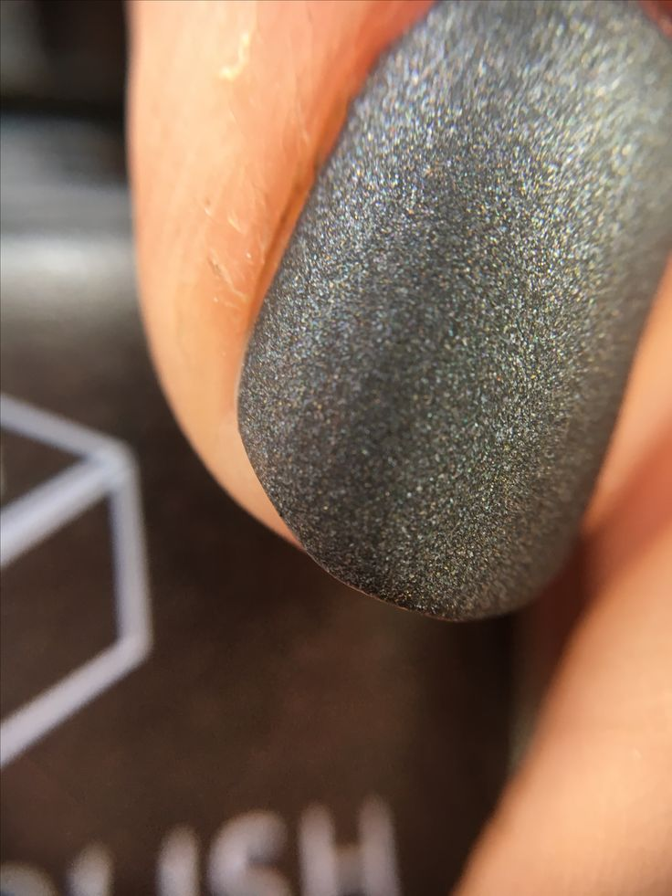 Blackjack a matte Black vegan nail polish
