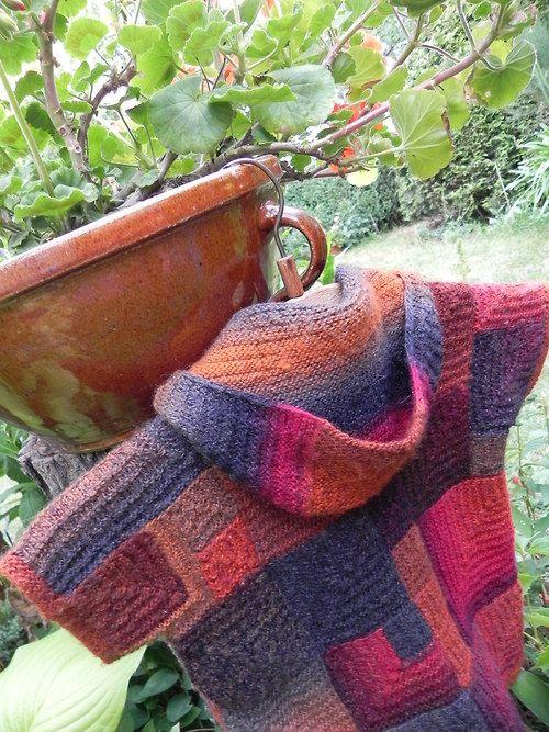 FOTO návod na svetřík pletený z modulových čtverců / Zboží prodejce Katrincola yarn | Fler.cz