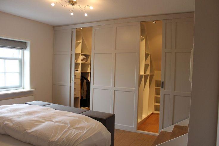 25 beste idee n over wandel kast op pinterest hoofdkast kleedkamer en ikea pax kledingkast - Plan slaapkamer kleedkamer ...