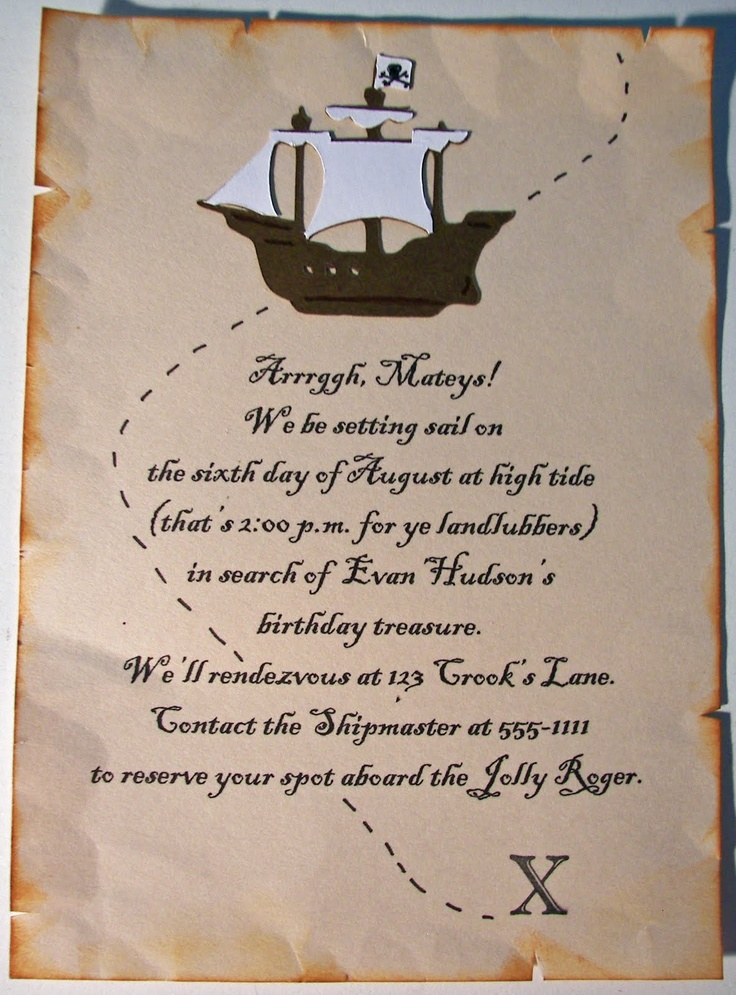 62 best pirate birthday party images on pinterest celebration pirate party invitation stopboris