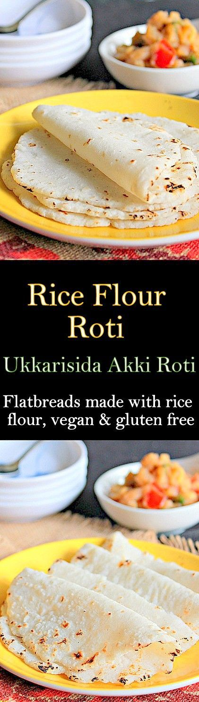 Rice Flour Roti, Ukkarisida Akki Roti, healthy, vegan and gluten free rotis with rice flour..