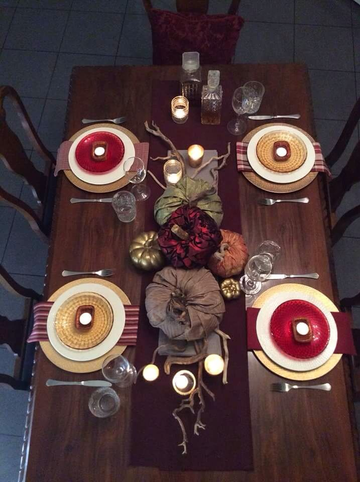 My fall tablesetting