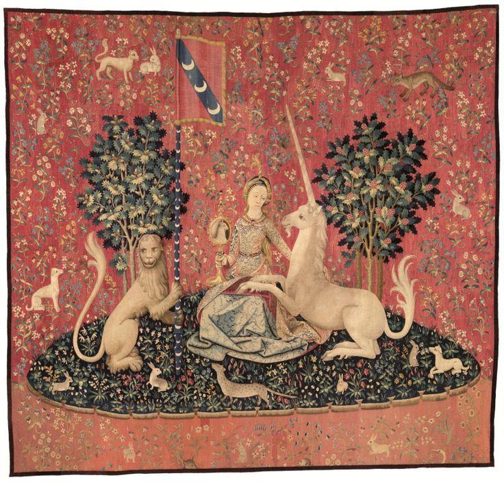 La vue, La Dame à la Licorne, tapisserie, 4e quart du XVe siècle, Paris, Musée de Cluny