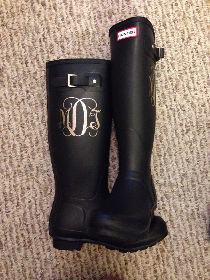 Monogram Hunter wellies