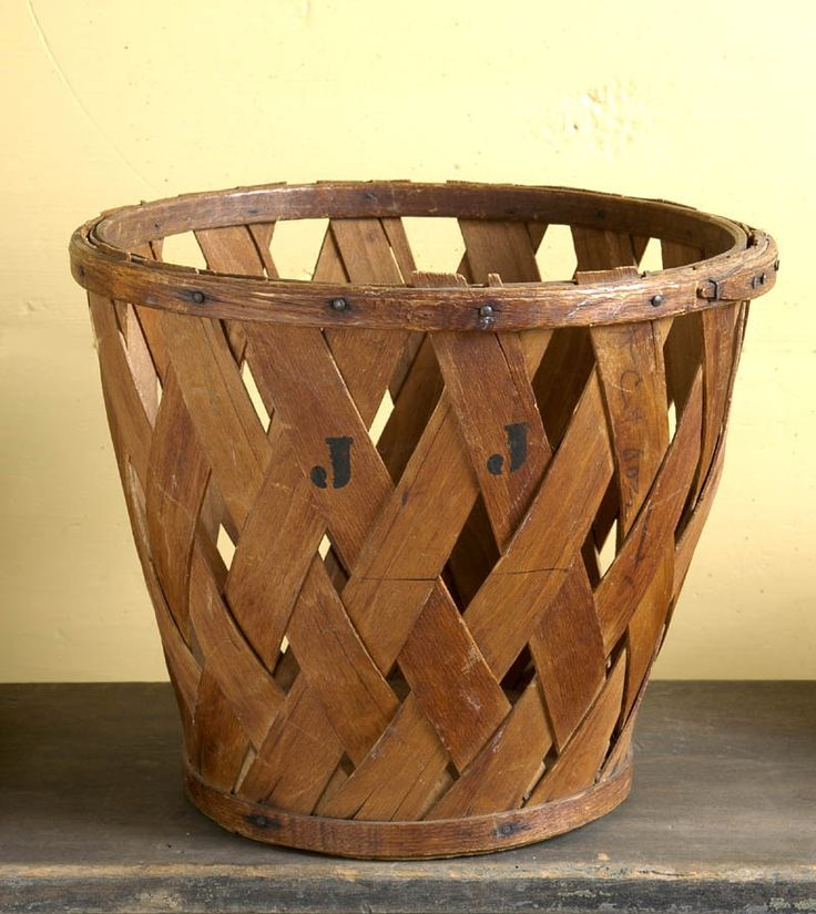 Antique Shaker Peach Basket Willis Henry A Tisket