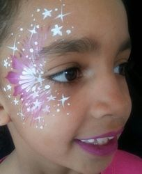 Star Eye Design Face Painting: