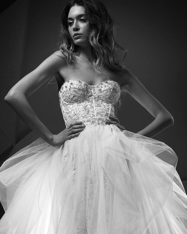 Sweetheart corset french lace wedding ball gown hand embroidered with Swarovski pearls and crystals. Ss 18 Carmilla wedding dress