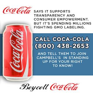 hey Coca-Cola I refuse to buy Coke products until you stop fighting my #righttoknow http://cokeboycott.com/nextsteps/ #gmos