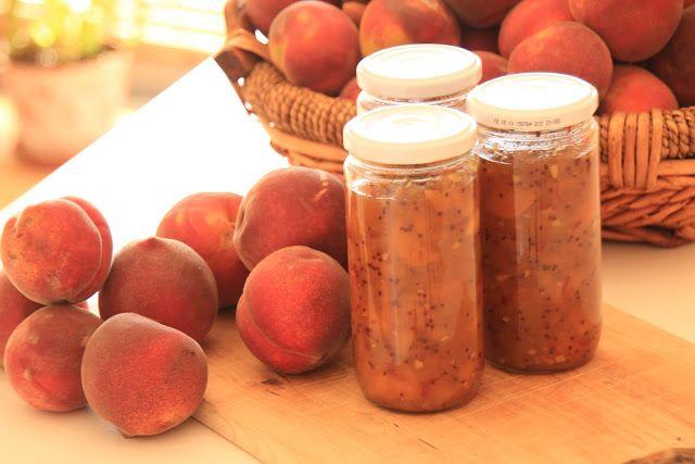 As Minhas Receitas: Chutney de Pêssego com Gengibre e Malagueta