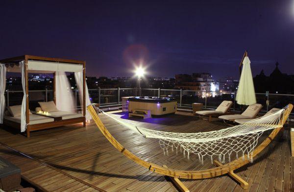 Modern hammock ideas canopy terrace night