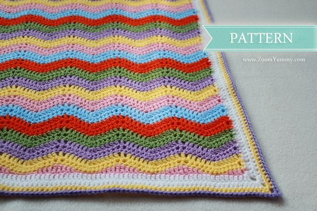 New Pattern � Simple Crochet Ripple Baby Blanket