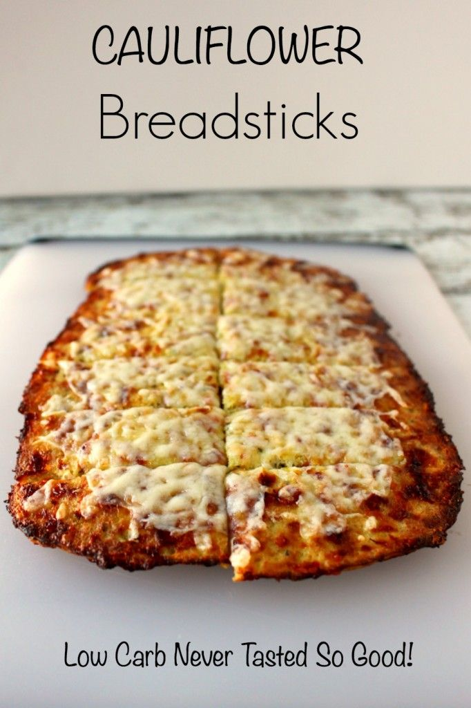 Cauliflower Breadsticks - low carb never tasted so good! Add these to your pizza night!