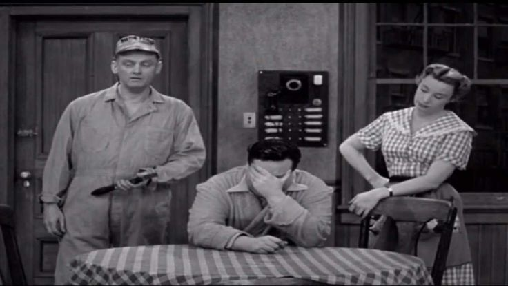 The Honeymooners. For those of us oldies. How we waited to the show to com on TV. Jackie Gleason.