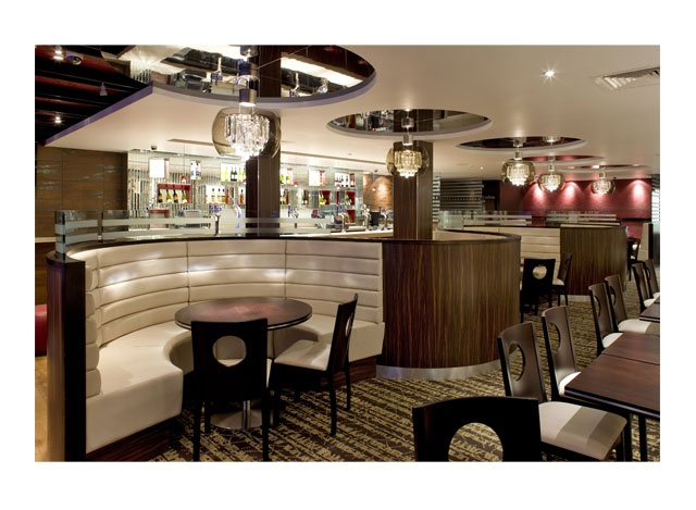 Modern round booth seating restaurant pinterest