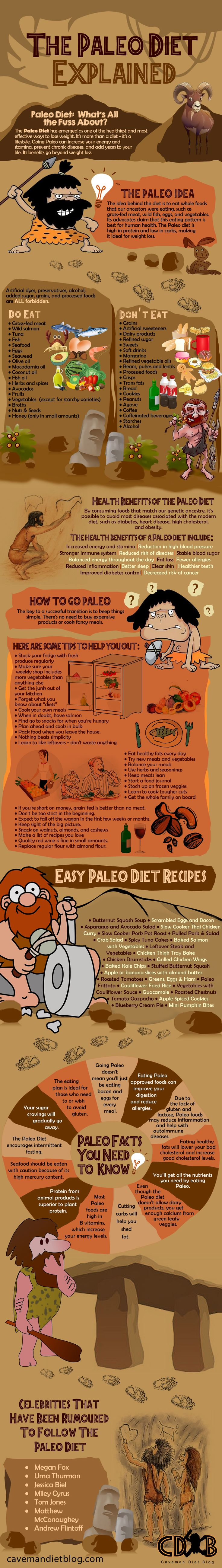 The Paleo Diet Explained - Fantastic infographic full of information about the Paleo diet
