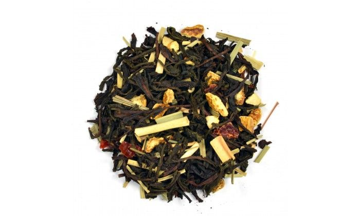 Citrus Earl Grey: Adding lemon and orange with the citrus flavour of Bergamont oil gives this Organic loose leaf tea its tangy taste. Blended in Canada. Ingredients: Black tea, Orange peel, Lemon Grass, Rosehips and Natural flavour.