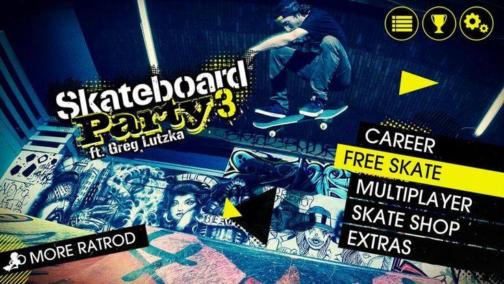 Skateboard Party 3 Greg Lutzka v1.0.5 [Mod Exp/Unlocked) Apk Mod  Data http://www.faridgames.tk/2016/12/skateboard-party-3-greg-lutzka-v105-mod.html