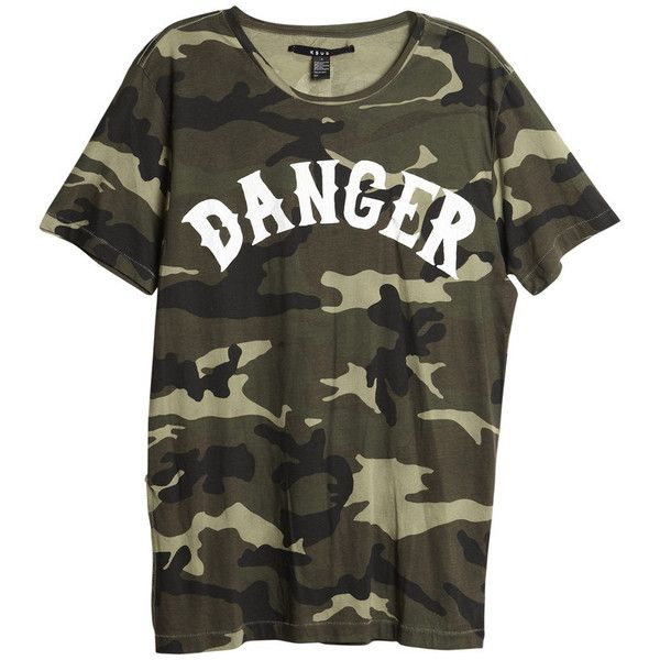 Baddies Camo Tee (160 BRL) ❤ liked on Polyvore featuring tops, t-shirts, shirts, majice, cotton jersey, camoflage t shirt, shirt top, camo print tee and camouflage tee-shirt