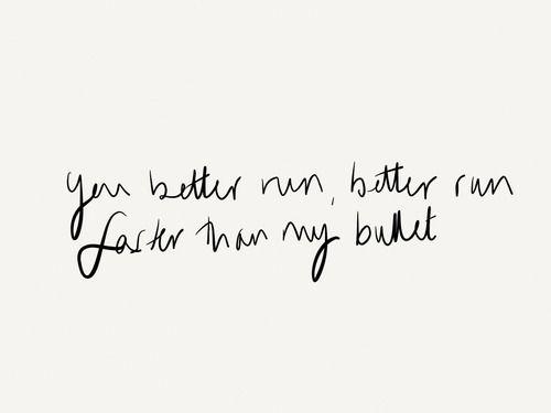 Foster The People: Pumped Up Kicks - 'You better run, better run, faster than my bullet.'