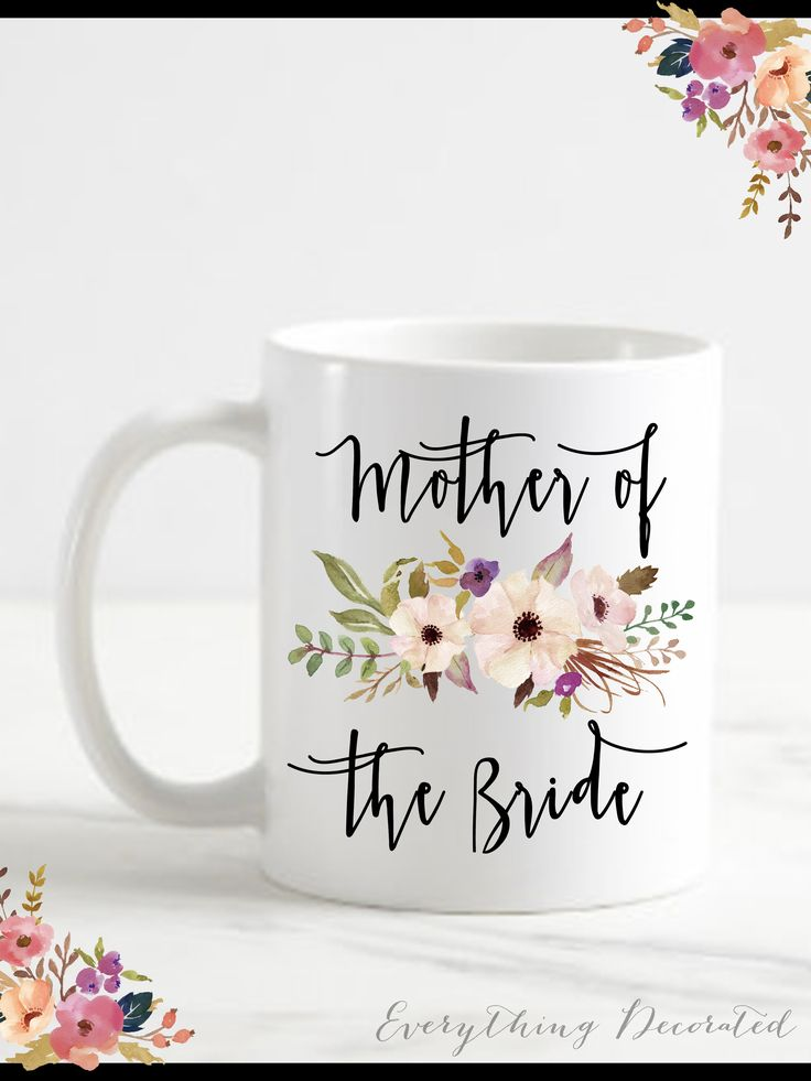 Mother of the Groom Gift from Bride Mother of the Bride Gift from Daughter Wedding Gift for Parents Wedding Gift for Mother of the Bride Mug $15.00