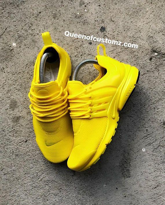 official photos 9b63c 9fa1c Sunshine Yellow Nike Presto Custom (PLEASE READ DESCRIPTION ...