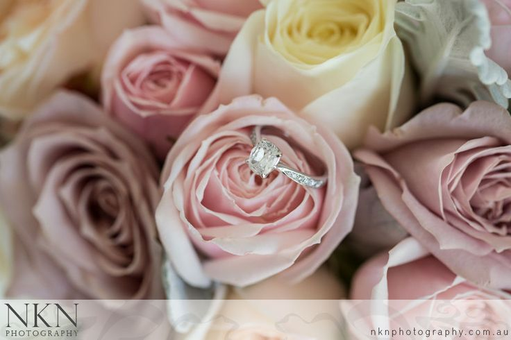 Engagement Ring in Bouquet - Brisbane Wedding Photography - Wendy & Steve