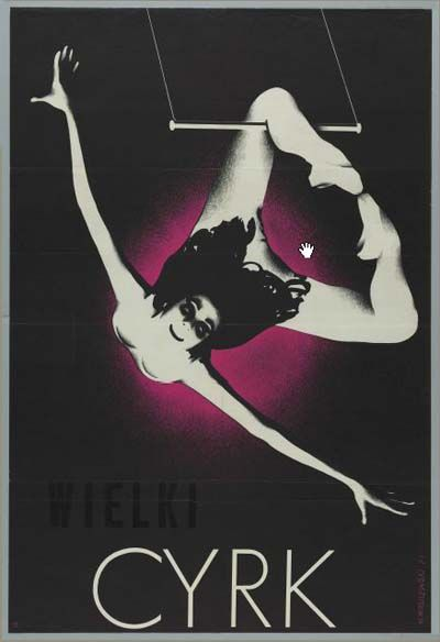 Vintage Circus Poster, Cyrk Wielki, 1971