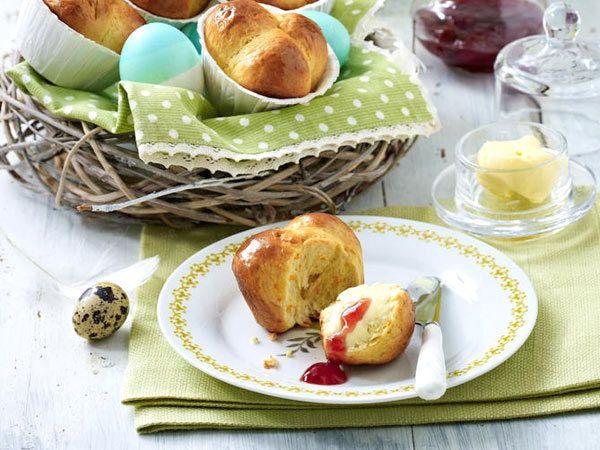 Hefegebäck zu Ostern - süße Kränze, Zöpfe und Co. - brioche-muffinform  Rezept