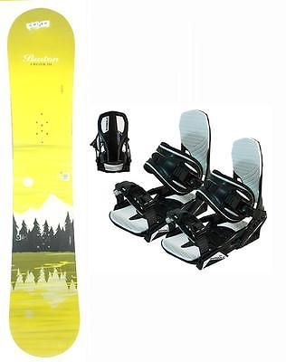 151cm Burton Cruzer Lak Used Snowboard +New Symbolic Bindings Package Deal gtr59
