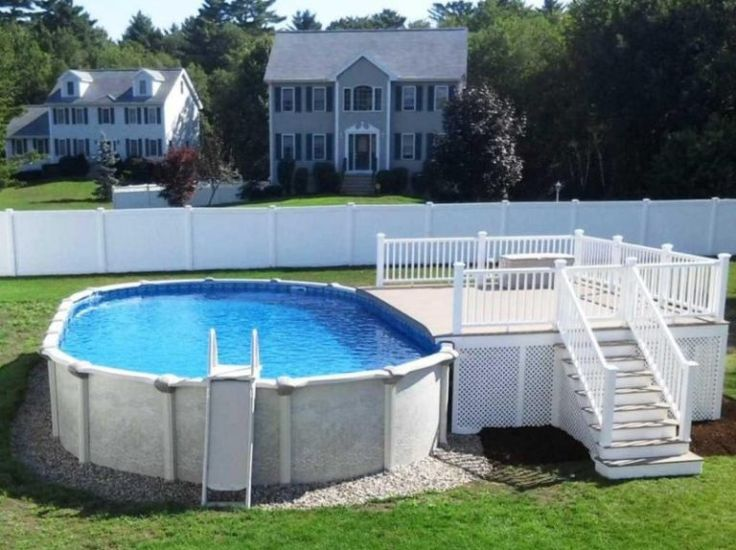 Best Above Ground Pool Decks Ideas On Pinterest Swimming Pool