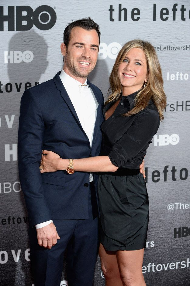 Jennifer Aniston And Justin Theroux Look Cute For The Cameras