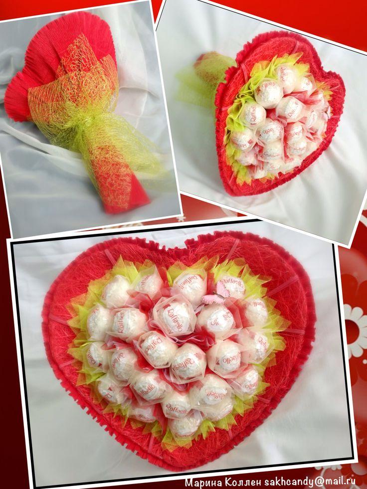 Candy heart bouquet