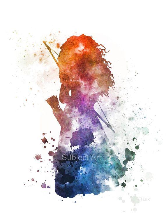 Illustration de Merida inspiré ART PRINT Brave par SubjectArt
