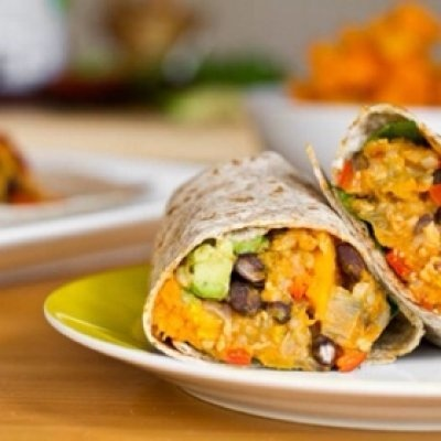 Black Bean and Butternut Squash Burritos by Oh She Glows - love these!