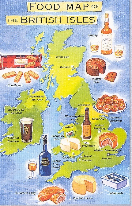 Food Map of the British Isles, what would Sherlock eat?