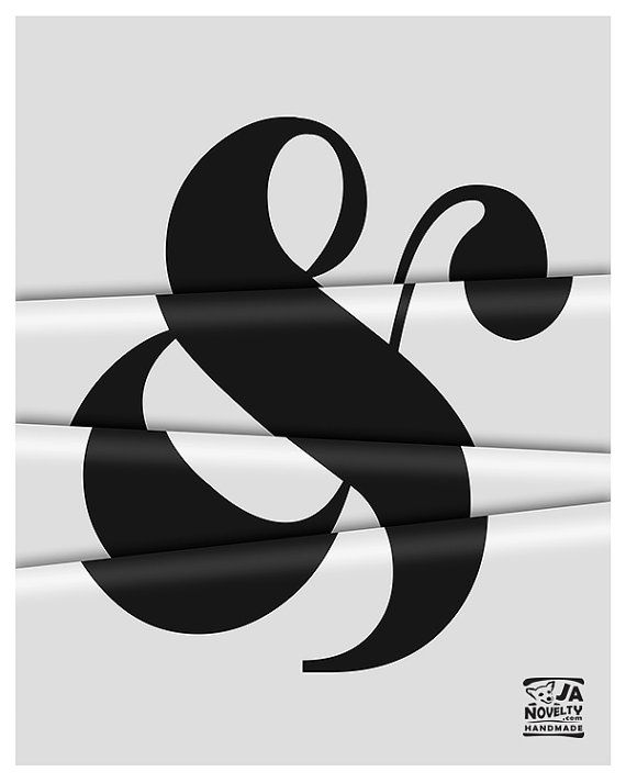 Ameprsand illustration Ampersand poster by JAnoveltyDeSign on Etsy