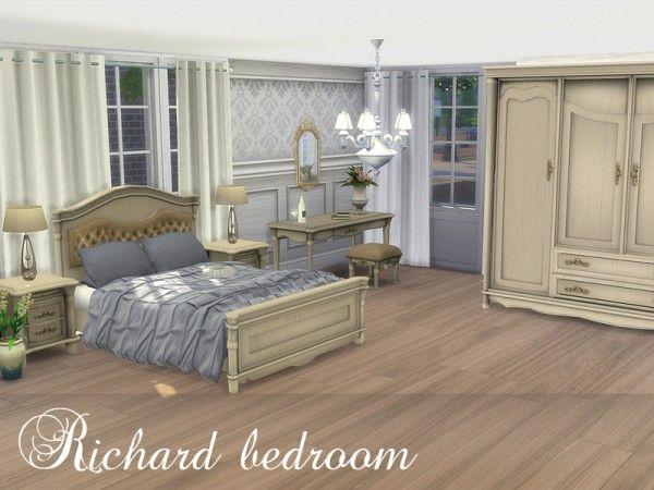 The Sims Resource Richard Bedroom By Spacesims Sims 4 Downloads Elegant Master Bedroom Bedroom Bedroom Sets