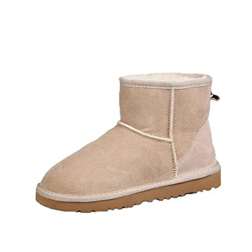 Pinklily Womens Insulation Stitched Snow Boots Sand US M 85 ** Continue to the product at the image link.