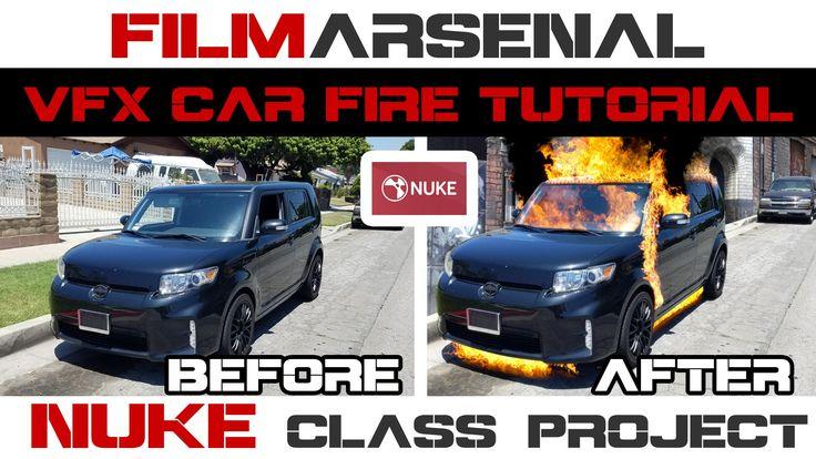 VFX Car Fire Tutorial using Nuke