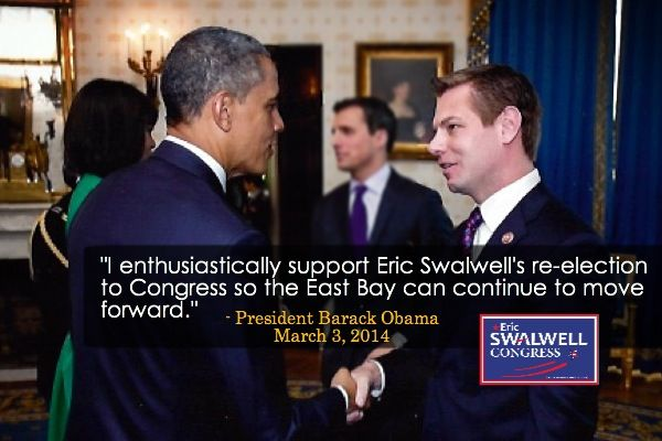 Honored to have President Barack Obama's endorsement. Excited to work with him to create jobs & move #ca15 forward.
