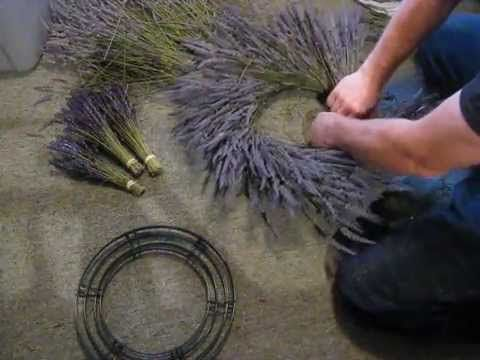 Making a Lavender Wreath - How to make lavender Wreath - YouTube
