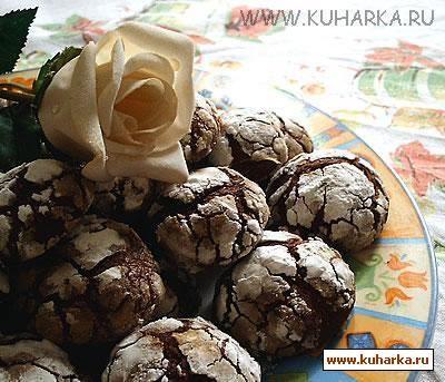 """Рецепт: Шоколадное печенье """"Трюфель"""""""